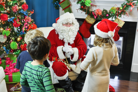 Santa Claus is available for visits in the NW Denver Metro area through 3 pm on Dec 24th